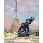 Puzzle  Puzzle-Michele-Wilson-A277-80 Renoux : La Tour Eiffel et l'éléphant