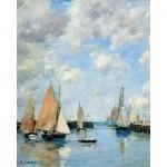 Puzzle  Puzzle-Michele-Wilson-A506-1000 Eugène Boudin :  La jetée à marée haute