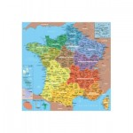Puzzle en bois - Art Maxi 24 pièces - Géographie : Carte de france