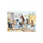 Puzzle  Puzzle-Michele-Wilson-W148-100 Louis Wain : Nettoyage de Printemps