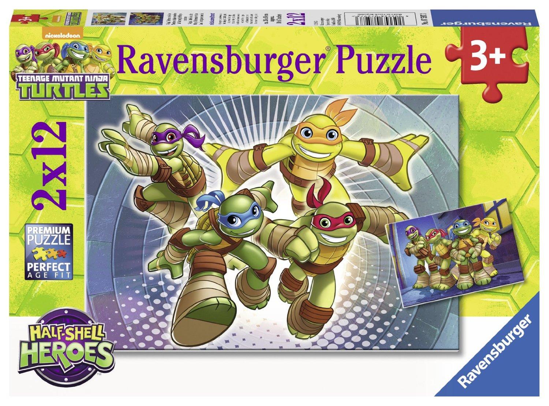 Tortues Ninja Ravensburger-07597 12 Pièces Puzzles