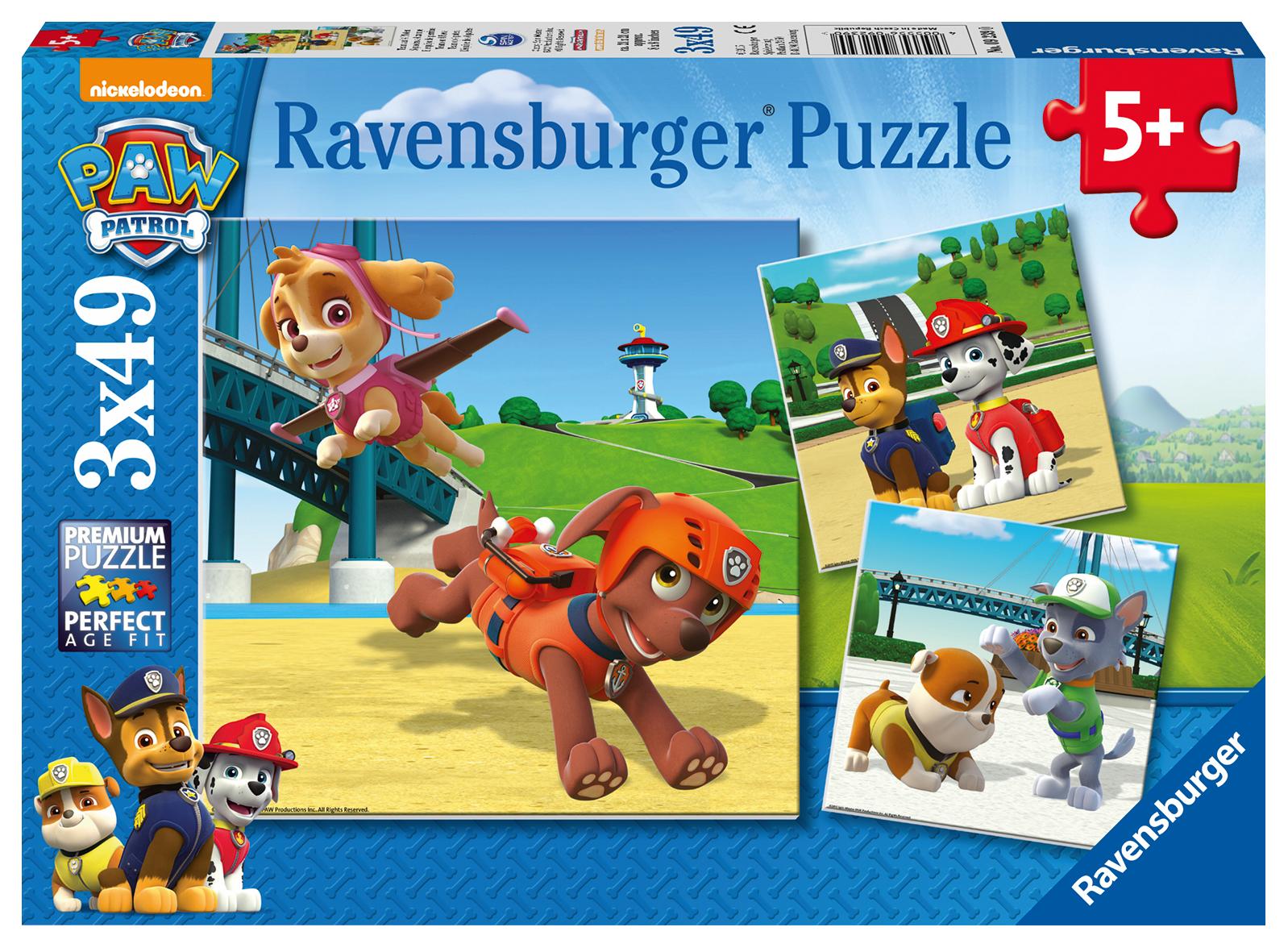 3 puzzles pat 39 patrouille ravensburger 09239 49 pi ces. Black Bedroom Furniture Sets. Home Design Ideas