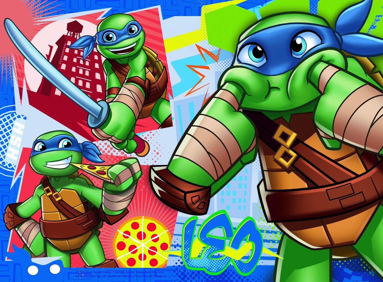 Tortues Ninja Ravensburger-07099 12 Pièces Puzzles