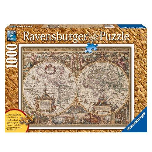 puzzle carte du monde ancienne ravensburger 19004 1000 pi ces puzzles cartes du monde et. Black Bedroom Furniture Sets. Home Design Ideas