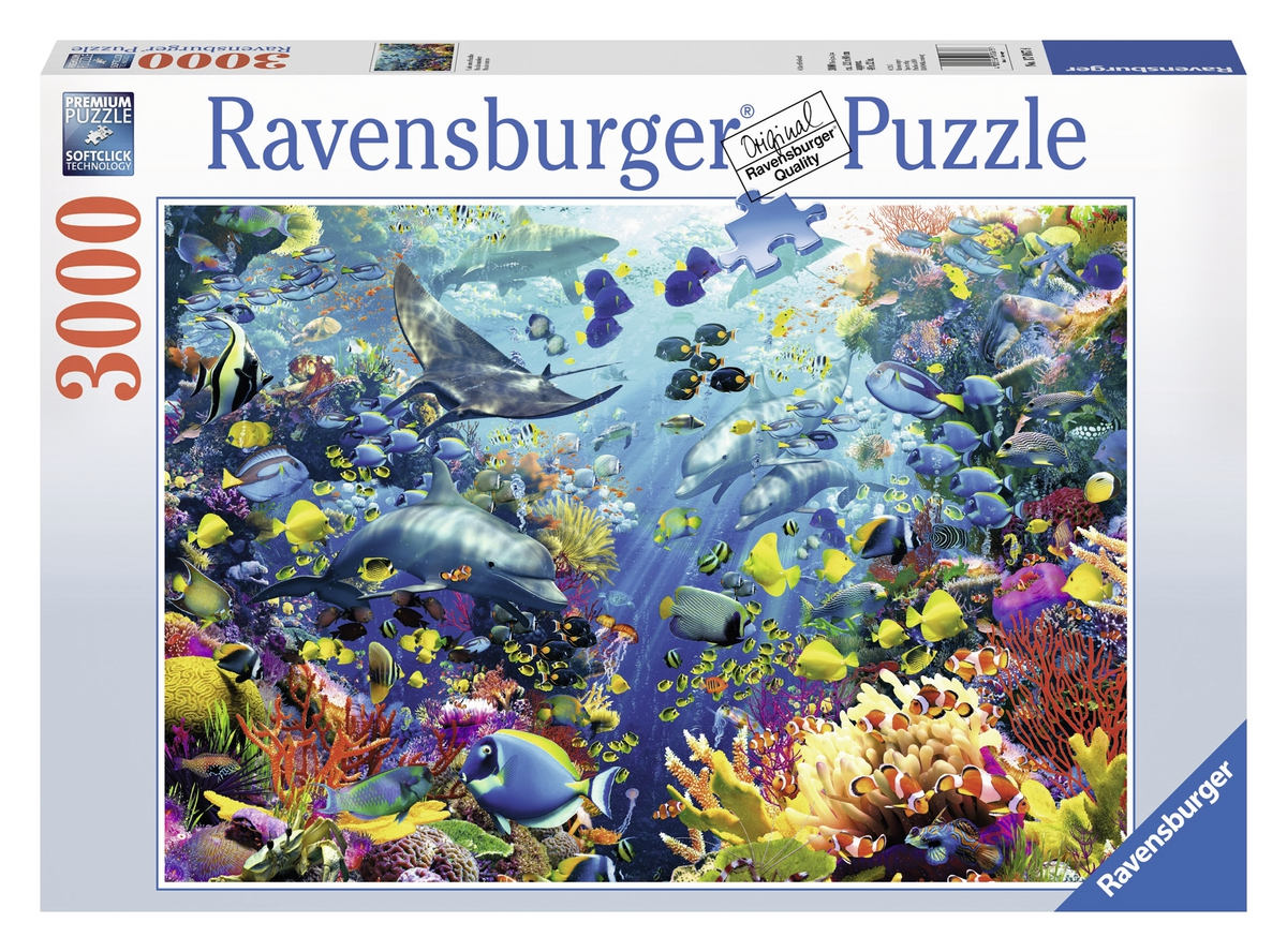 puzzle paradis des fonds marins ravensburger 17067 3000 pi ces puzzles animaux marins planet. Black Bedroom Furniture Sets. Home Design Ideas