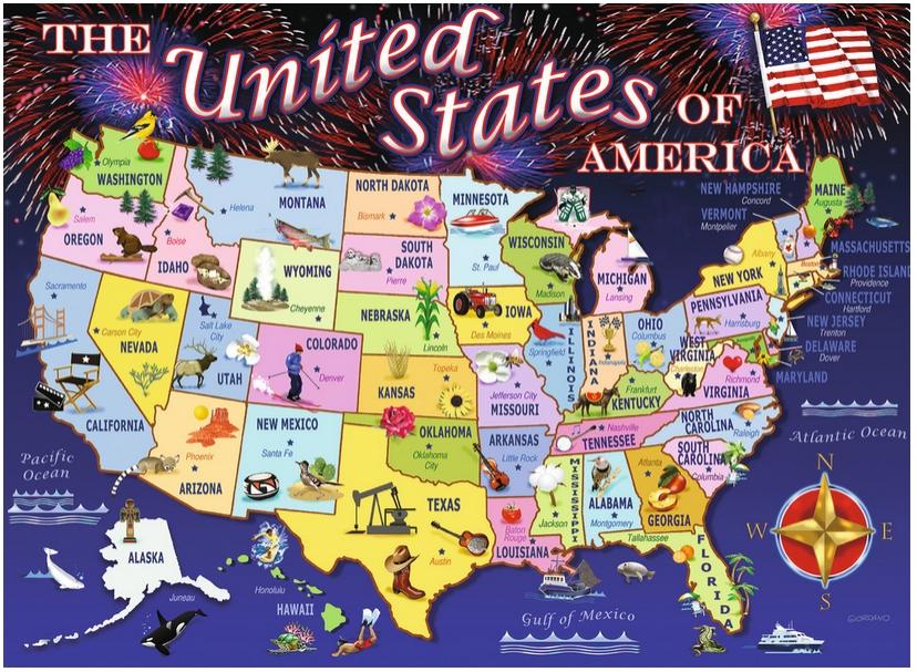 Carte Des Etats Unis Avec Toutes Les Villes