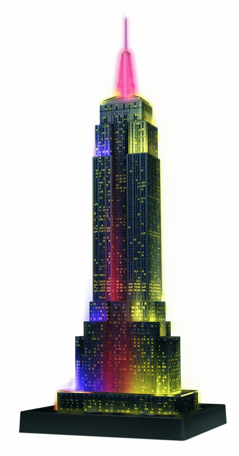 puzzle 3d avec led empire state building by night. Black Bedroom Furniture Sets. Home Design Ideas