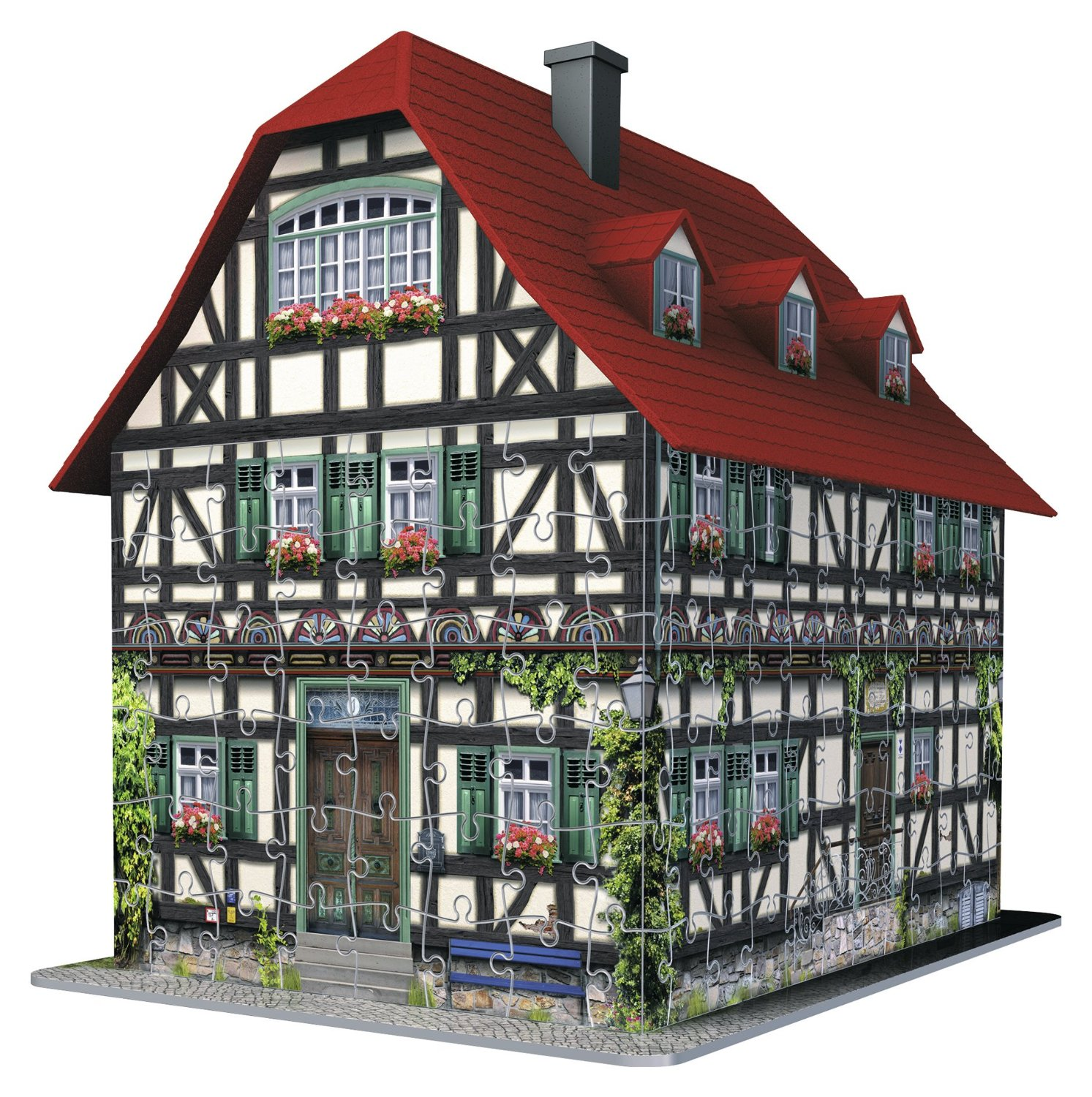 puzzle 3d maison m di vale ravensburger 12572 216 pi ces puzzles cottages et ch lets. Black Bedroom Furniture Sets. Home Design Ideas