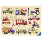 Ravensburger-03670 Puzzle en Bois - Dans la Rue