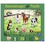 Ravensburger-03671 Puzzle en Bois - Animaux de la Ferme