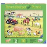 Ravensburger-03672 Puzzle en Bois - Animaux de la Ferme