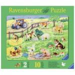 Ravensburger-03673 Puzzle en Bois - Animaux de la Ferme
