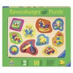 Puzzle  Ravensburger-03679 Encastrement en Bois - Mes Jouets Préférés