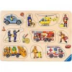 Ravensburger-03681 Puzzle en Bois - En Service
