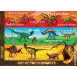 Ravensburger-05393 Puzzle Géant de Sol - Deadliest Dinosaurs