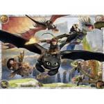 Ravensburger-05435 Puzzle Géant de Sol - Dragons