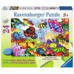 Ravensburger-05447 Puzzle Géant de Sol - Cute Bugs