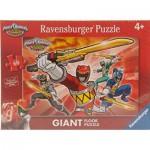 Ravensburger-05464 Puzzle Géant de Sol - Power Rangers