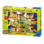 Ravensburger-05471 Puzzle Géant de Sol - Tortues Ninja