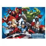 Ravensburger-05489 Puzzle Géant de Sol - Avengers