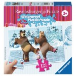 Ravensburger-05606 Waterproof Plastic Puzzle - Masha and the Bear