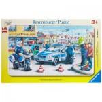 Puzzle  Ravensburger-06037 La Police en Action