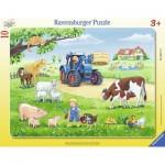Ravensburger-06117 Puzzle Cadre - La Ferme et ses Animaux
