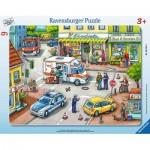 Ravensburger-06131 Puzzle Cadre - Secours en Ville