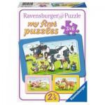 Ravensburger-06571 3 Puzzles - My First Puzzle - Animaux de la Ferme
