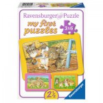 Ravensburger-06572 3 Puzzles - My First Puzzle - Chats et Chiens