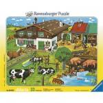 Puzzle  Ravensburger-06618 Les animaux et leurs familles