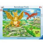 Ravensburger-06628 Puzzle Cadre - Petit Dragon