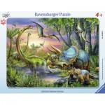 Ravensburger-06633 Puzzle Cadre - Gentils Dinosaures