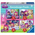 Ravensburger-06886 4 Puzzles - Little Charmers