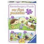 Ravensburger-06952 4 Puzzles - Animaux de la Forêt