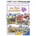 Ravensburger-06954 4 Puzzles - Au Travail