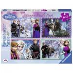 Ravensburger-07025 4 Puzzles - La Reine des Neiges