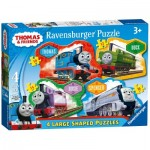 Ravensburger-07078 4 Puzzles - Thomas & Friends