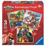 Ravensburger-07087 3 Puzzles - Power Rangers