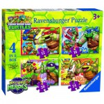 Ravensburger-07099 4 Puzzles - Tortues Ninja
