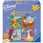 Ravensburger-07123 4 Puzzles - Winnie l'Ourson