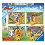 Ravensburger-07158 4 Puzzles - Le Roi Lion