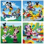Ravensburger-07214 4 Puzzles - Mickey et ses Amis