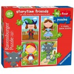 Ravensburger-07294 4 Puzzles - Storytime Friends