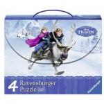 Ravensburger-07300 4 Puzzles - La Reine des Neiges