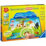 Ravensburger-07501 Puzzle éducatif - Animaux du Monde (en allemand)