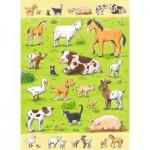 Puzzle  Ravensburger-07544 Animaux de la Ferme
