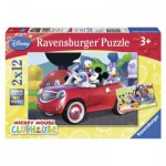 Ravensburger-07565 2 Puzzles - Mickey et ses Amis