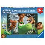 Ravensburger-07571 2 Puzzles - The Good Dinosaur
