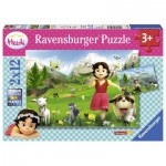 Ravensburger-07593 2 Puzzles - Heidi